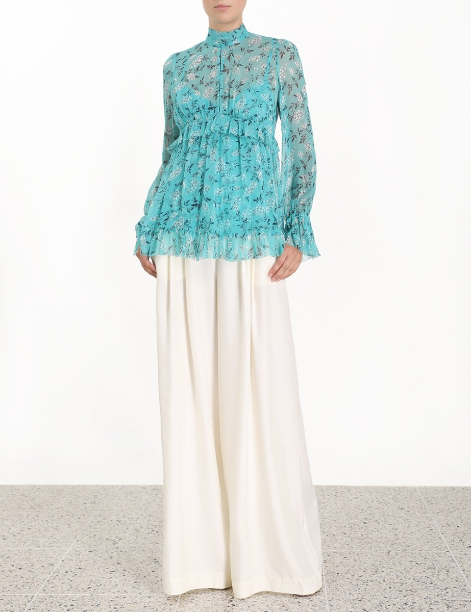 Moncur Gathered Frill Top