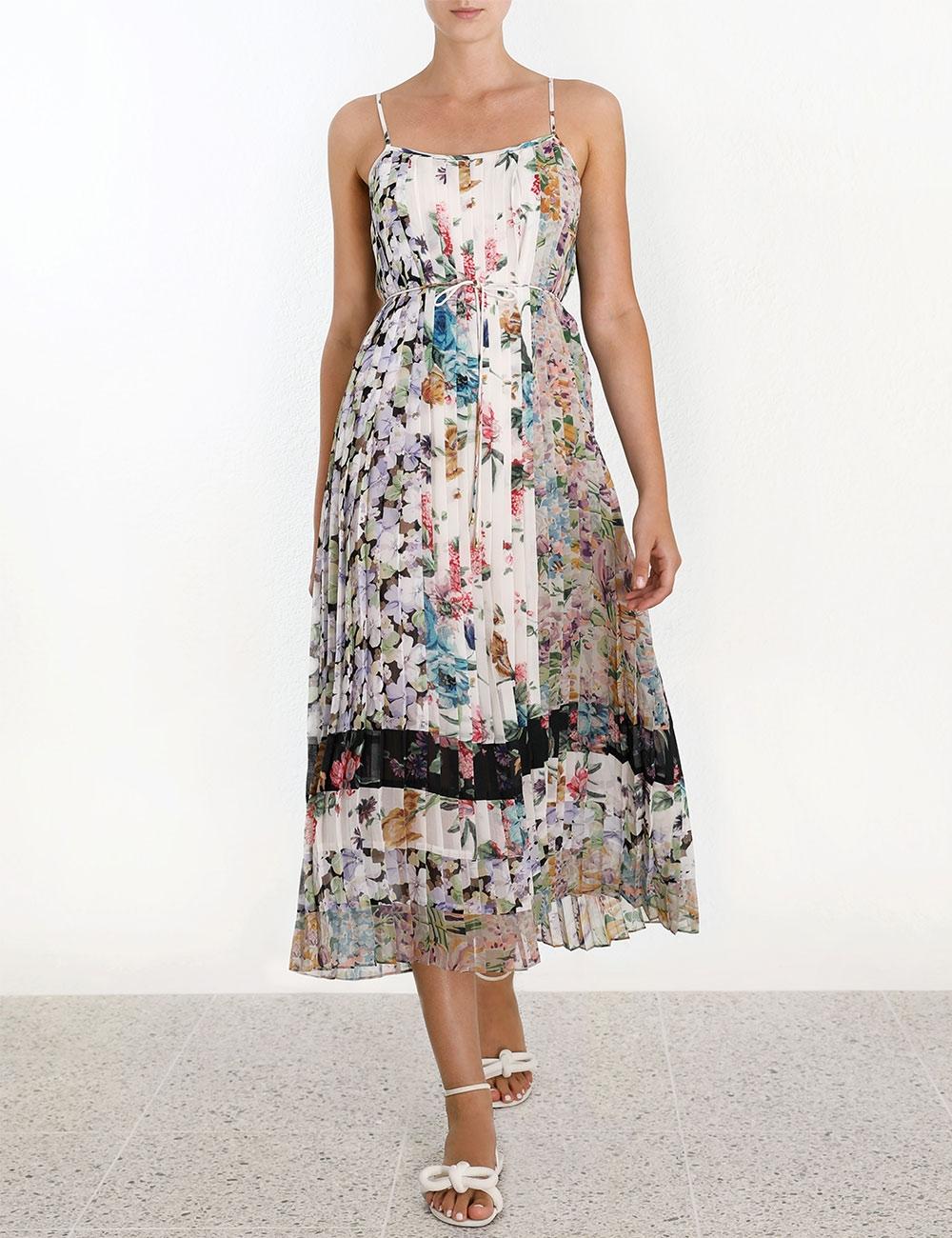 9d399f27c91d Ninety-Six Pleated Slip Dress