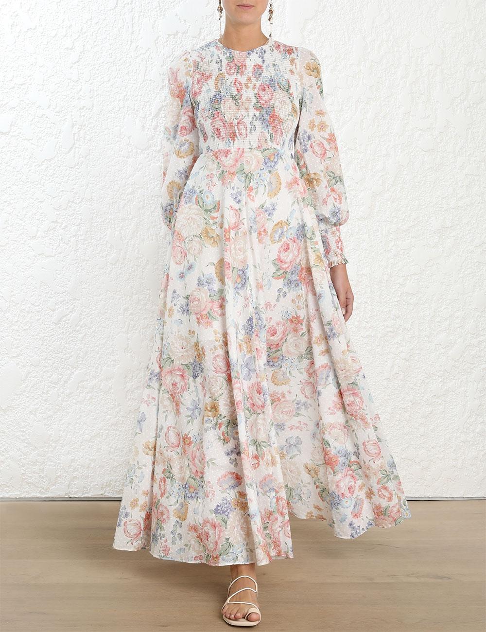 Bowie Shirred Bodice Dress