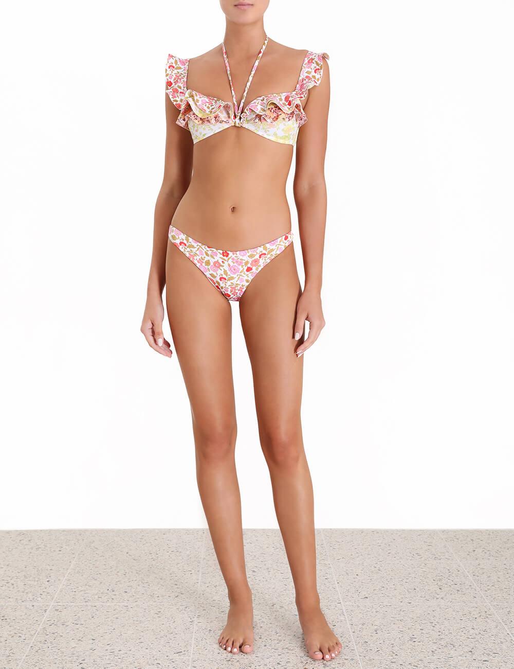 Goldie Frill Halter Tie Bikini