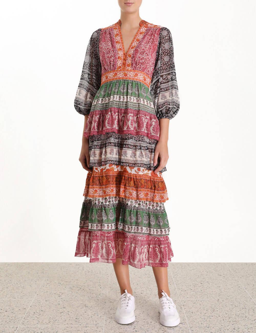 Amari Tiered Midi Dress