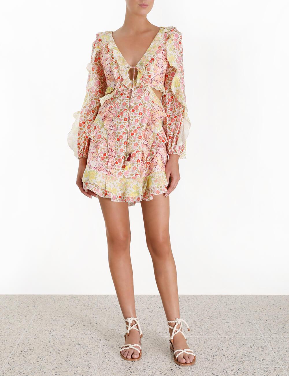 Goldie Spliced Short Dress