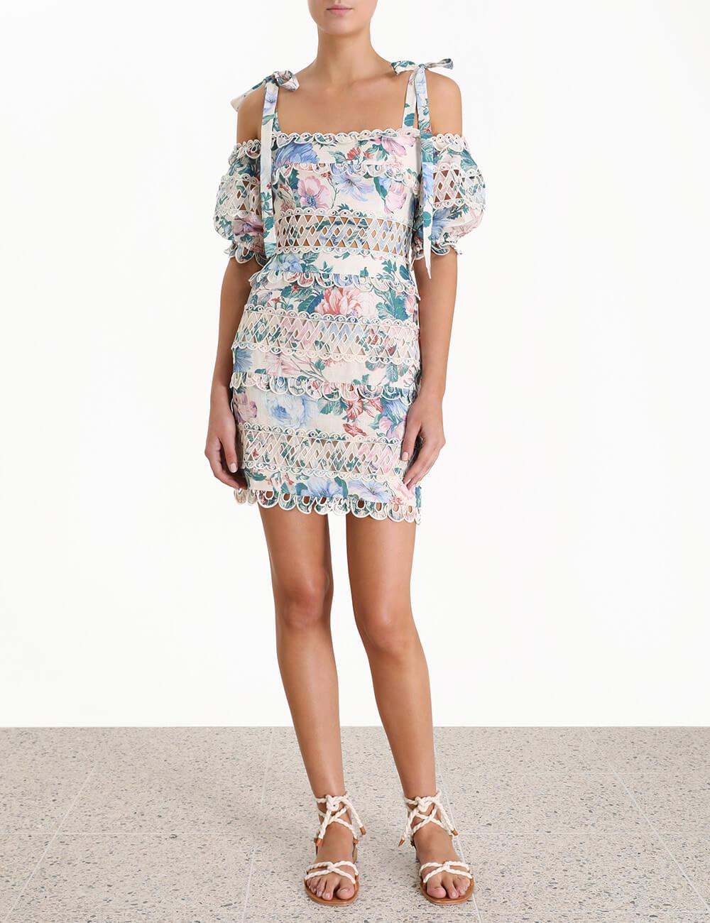 Verity Dot Off Shoulder Dress