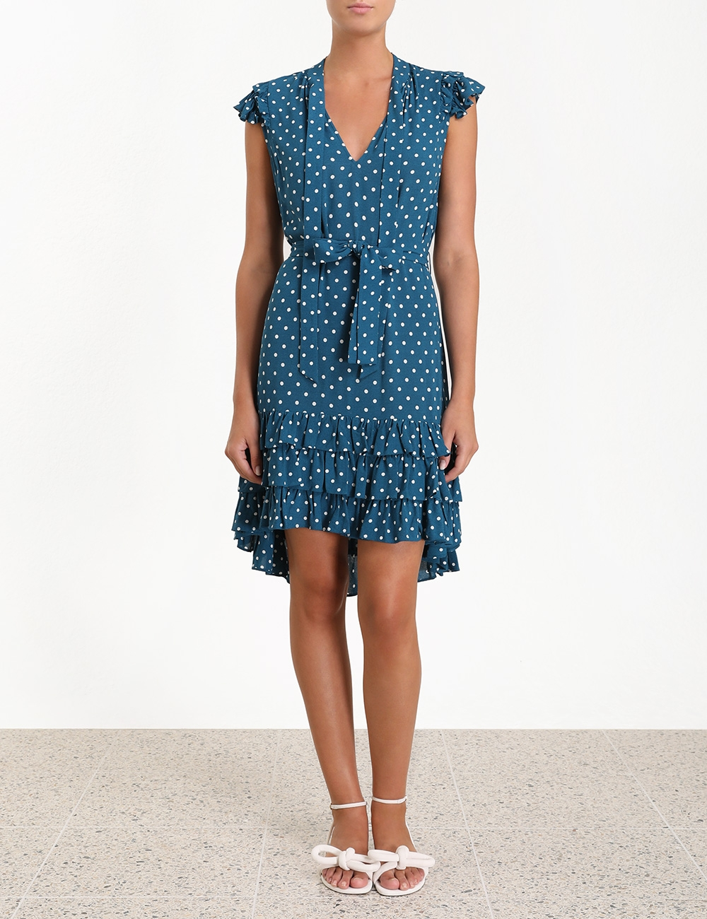 Dot Flutter Smock Short Dress