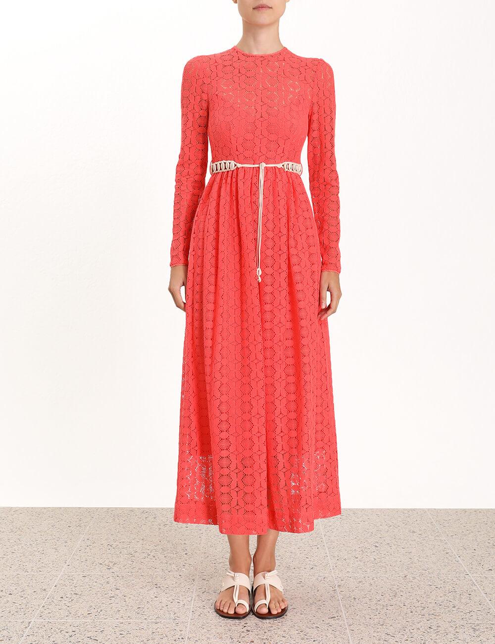 Allia High Neck Lace Dress