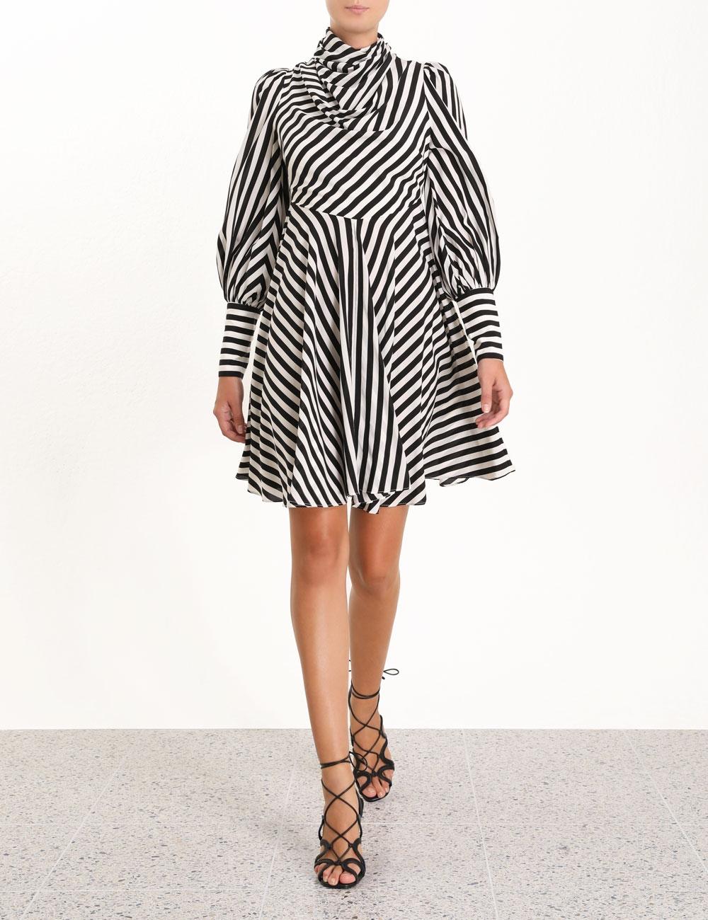 Zippy Cowl Short Dress