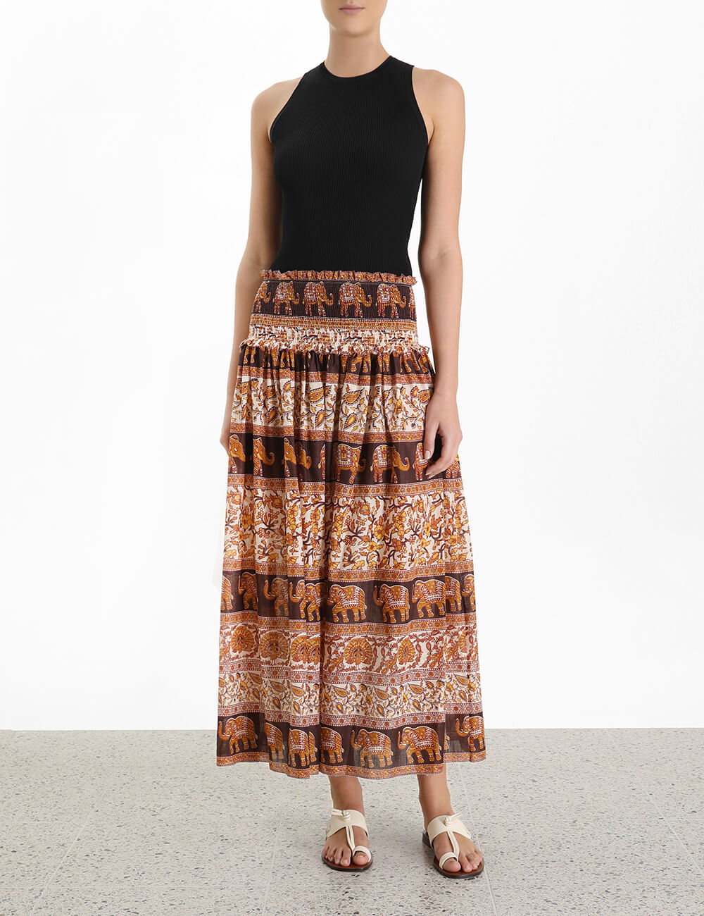 Suraya Shirred Waist Skirt