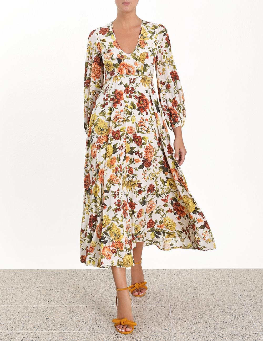 Zippy Plunge Long Dress