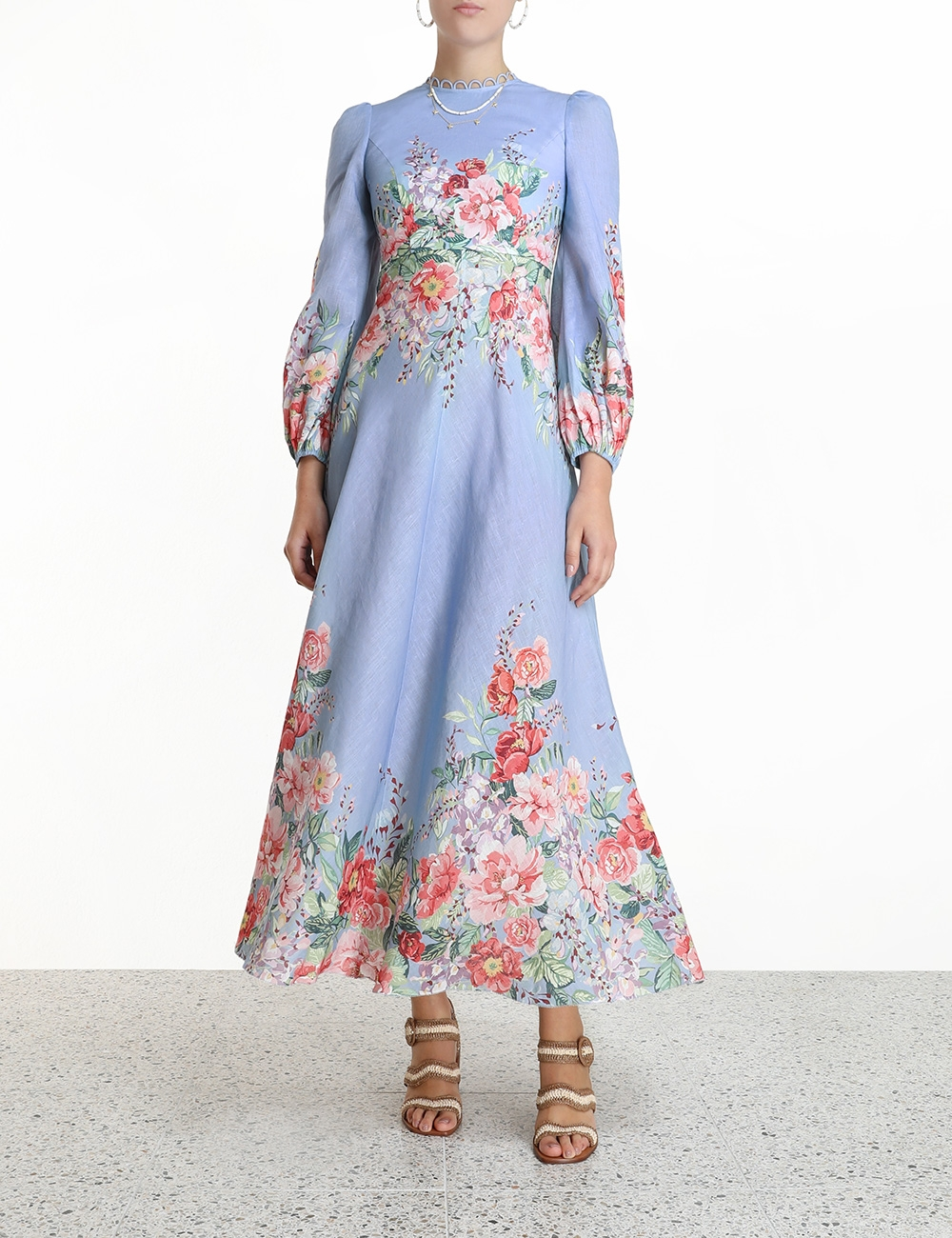 Bellitude Floral Long Dress