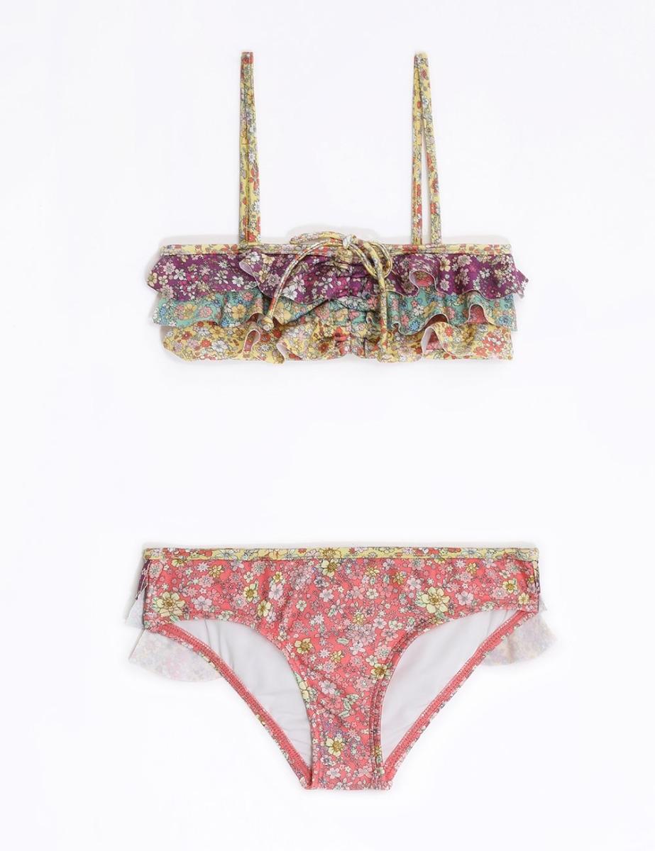 Carnaby Frill Bandeau Bikini