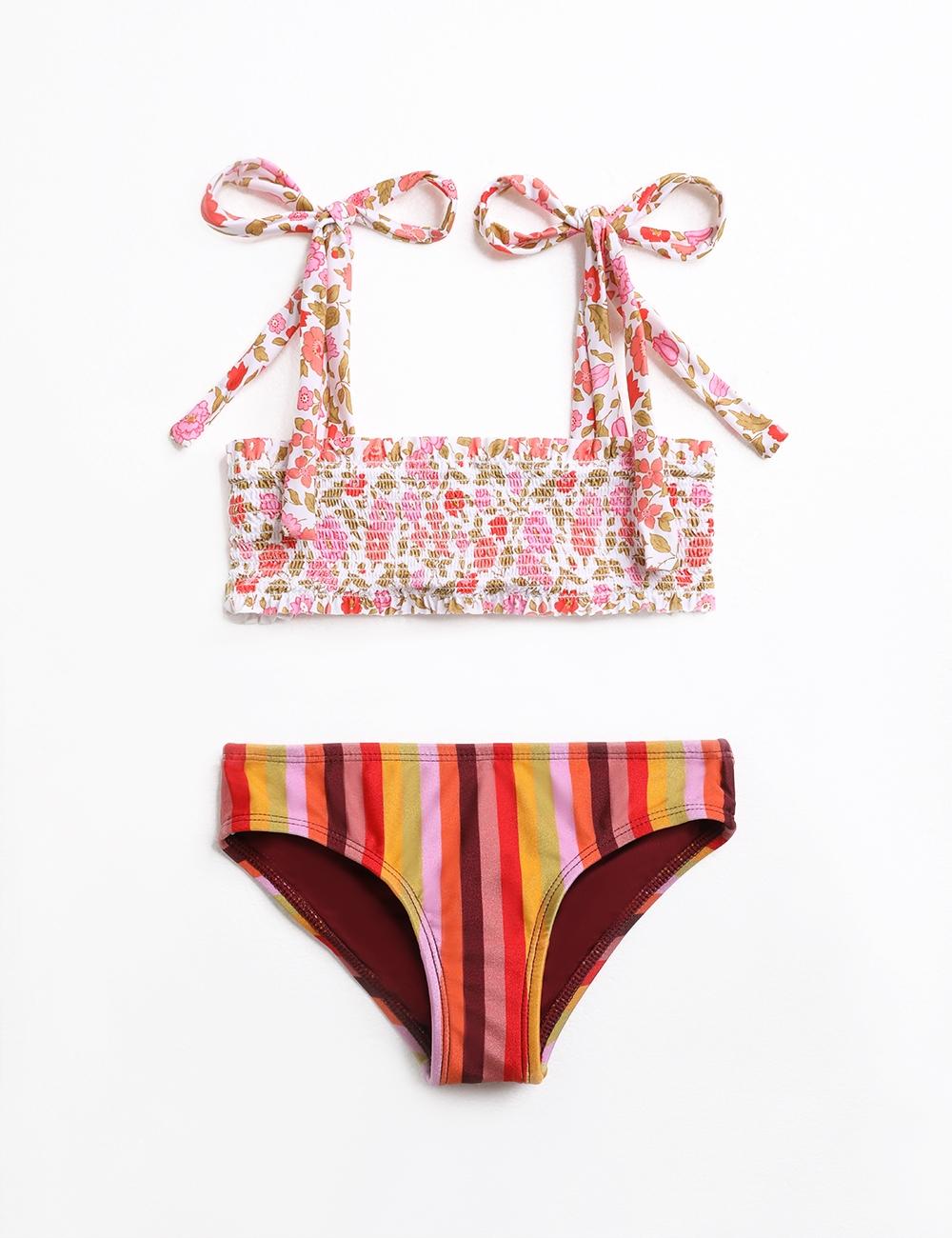 Goldie Shirred Bandeau Bikini