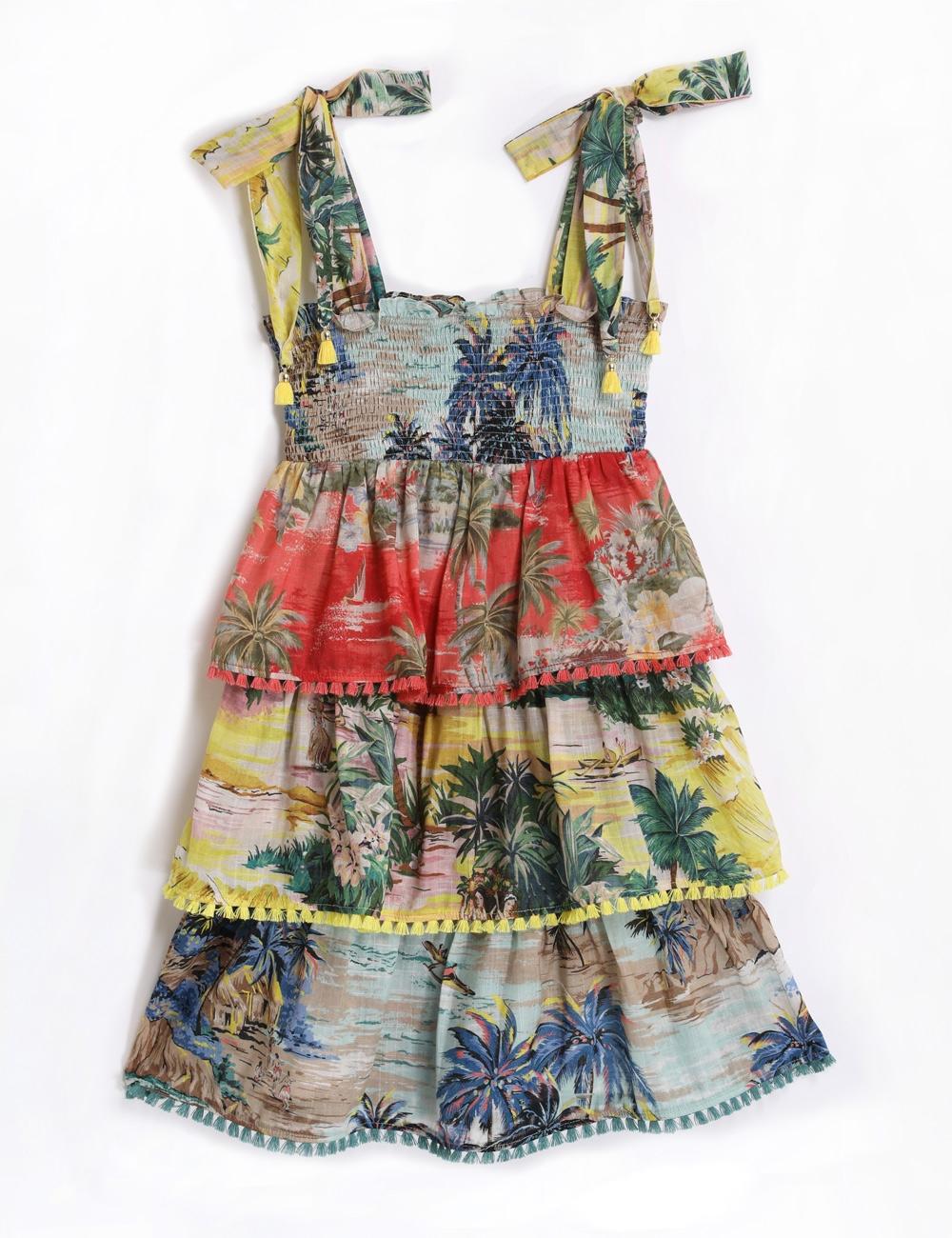 Juliette Shirred Tiered Dress