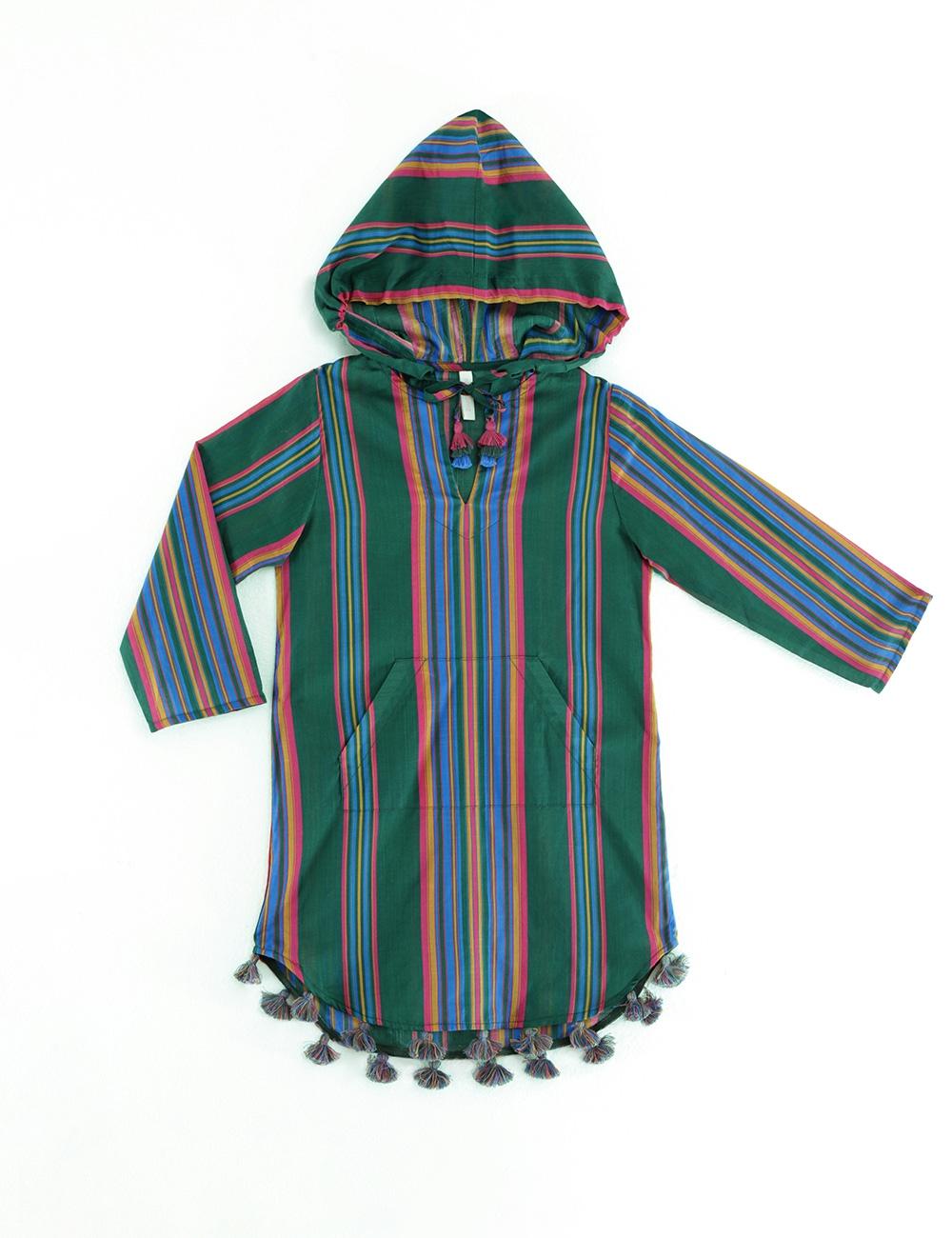 Allia Stripe Hoodie Robe