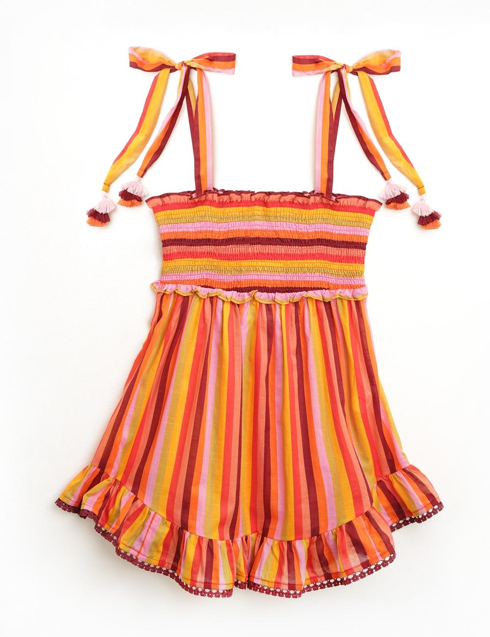 Goldie Shirred Short Dress