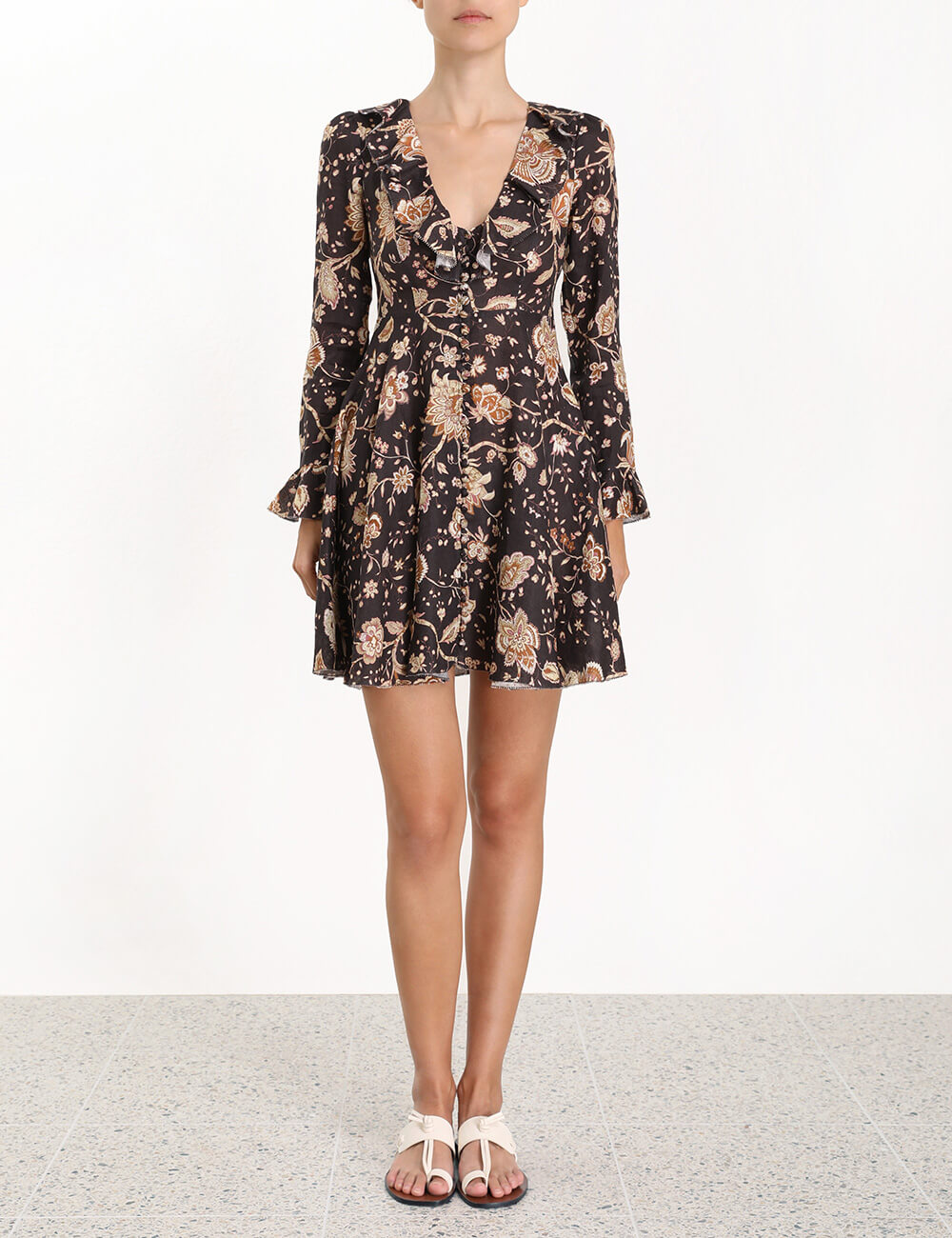 Veneto Plunge Short Dress