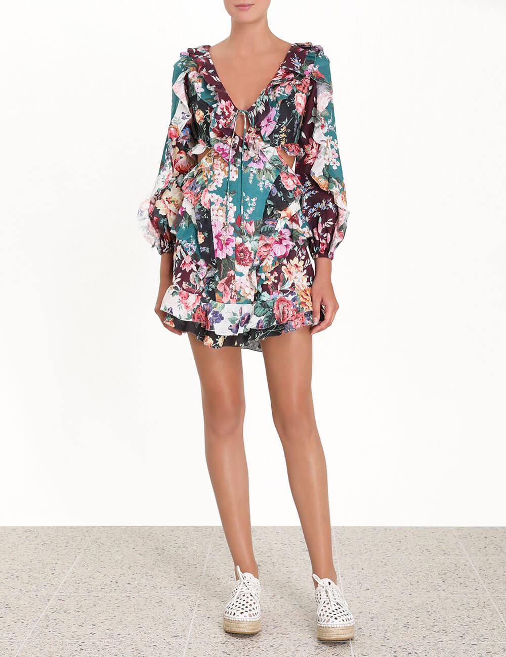 Allia Spliced Short Dress
