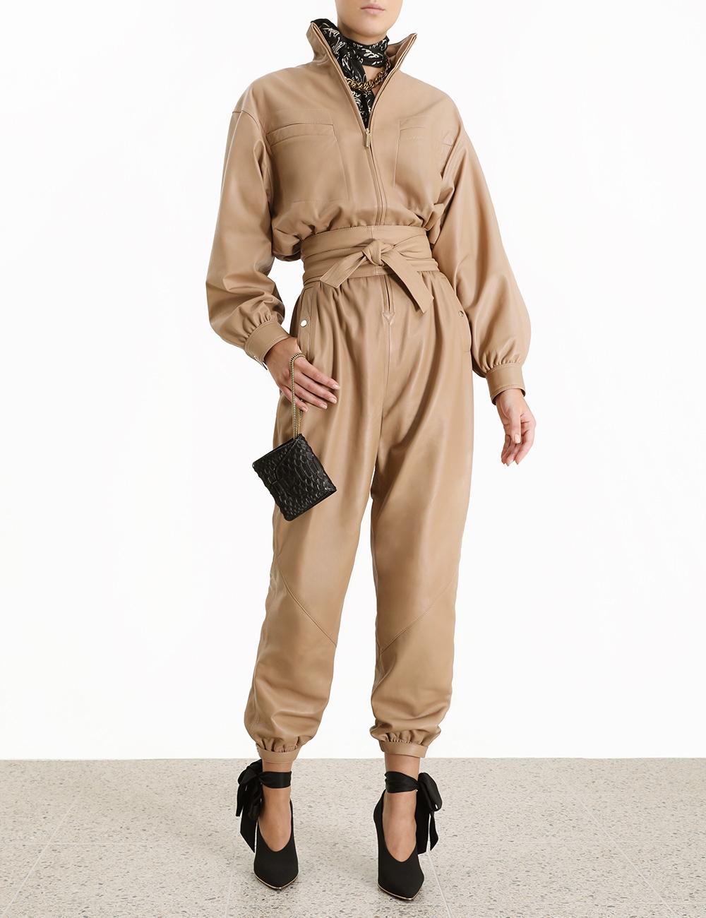 Espionage Leather Boiler Suit
