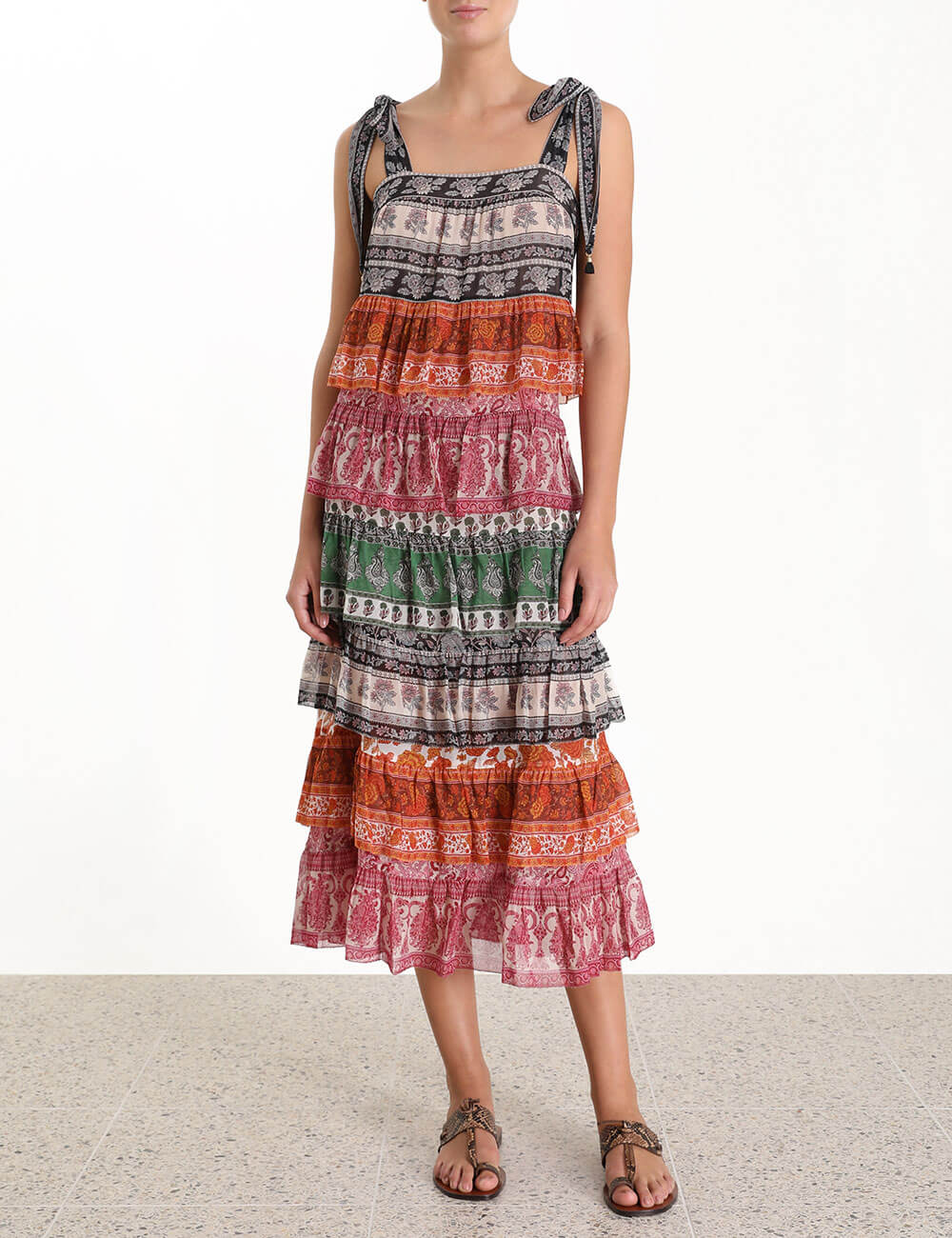 Amari Tiered Tie Dress