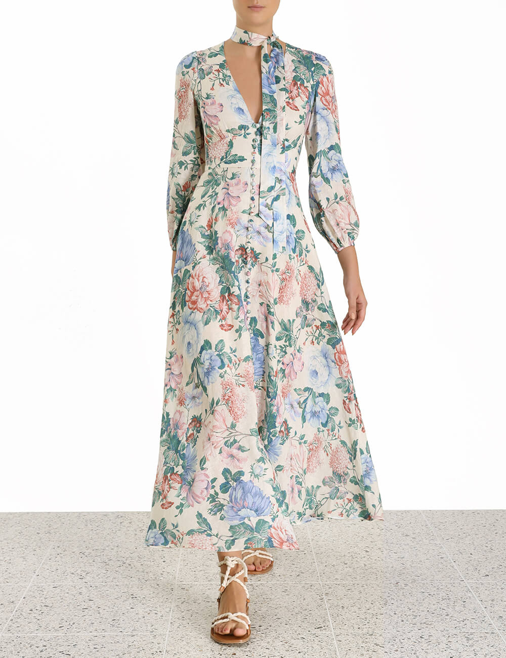 Verity Plunge Long Dress