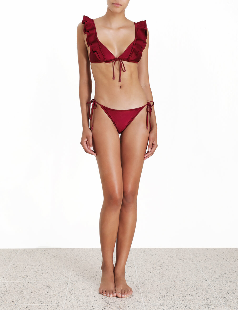 Amari Frill Tie Front Bikini