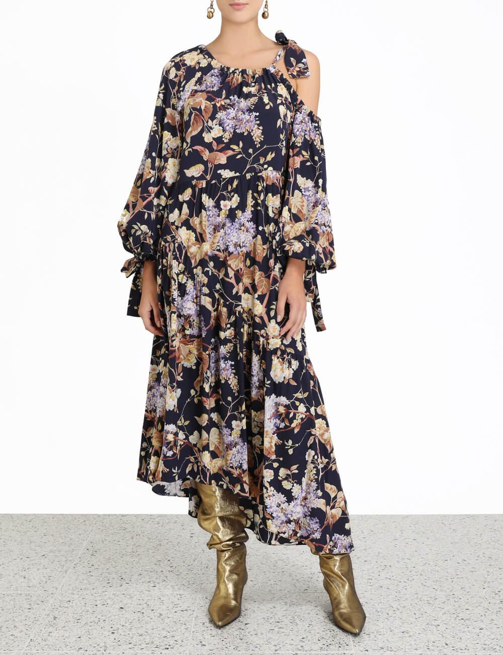 Sabotage Silk Draped Dress