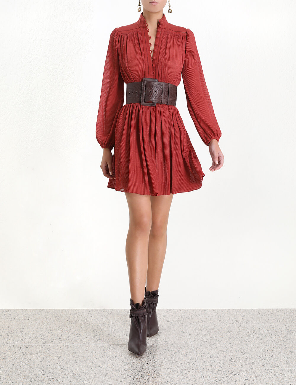 Espionage Plisse Mini Dress