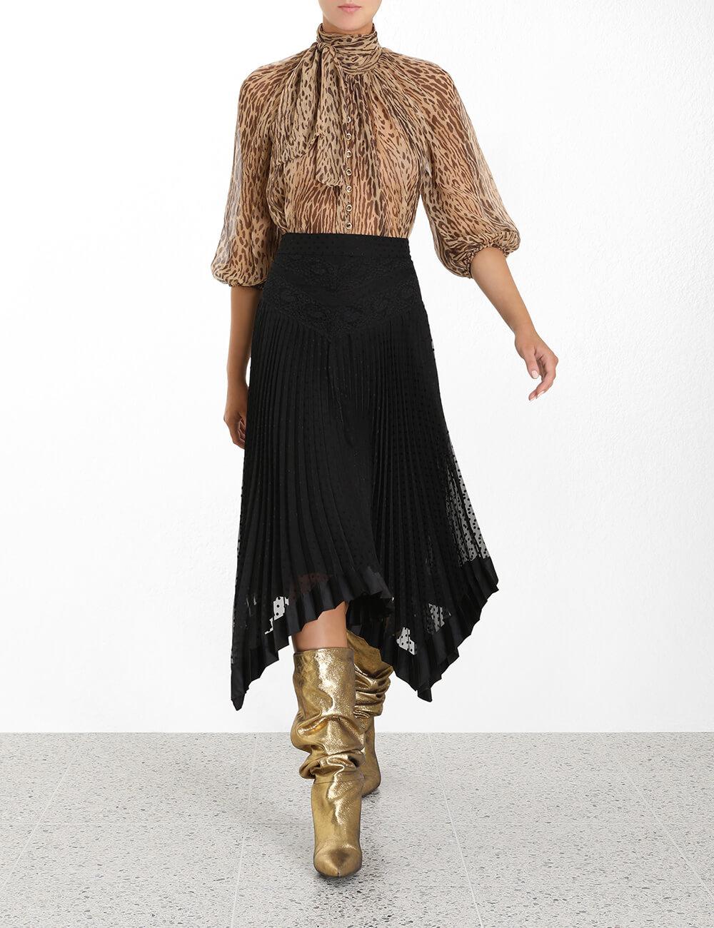 Espionage Lace Panelled Skirt