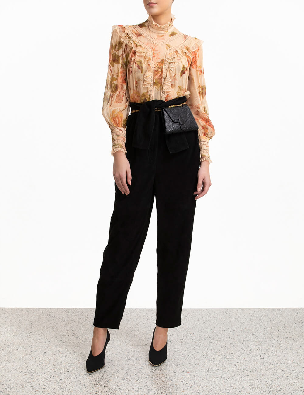 Resistance Lace Panel Blouse