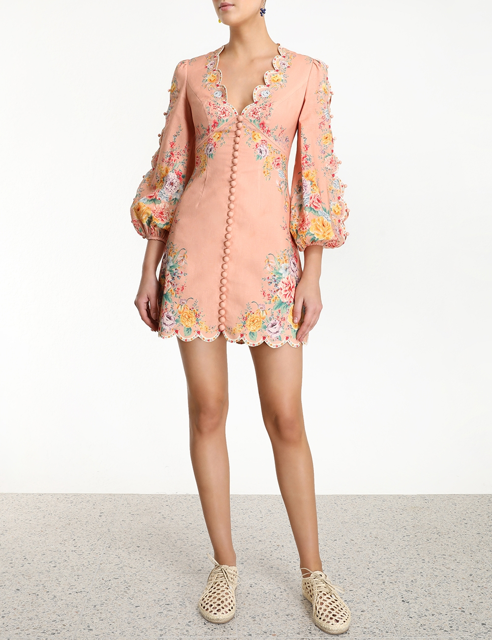 Zinnia Scallop Mini Dress