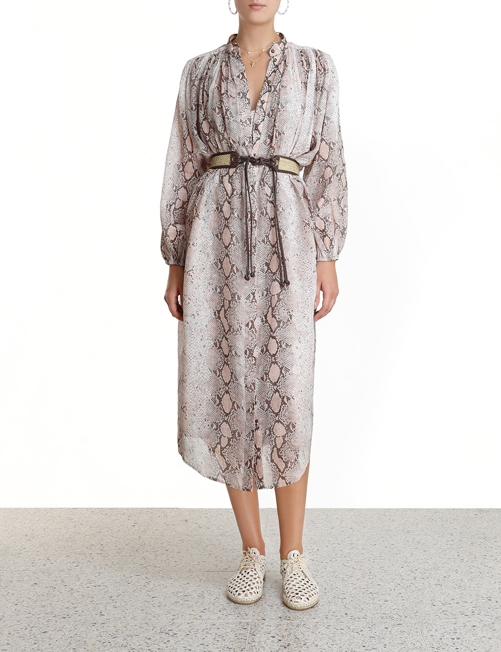Bellitude Long Shirt Dress