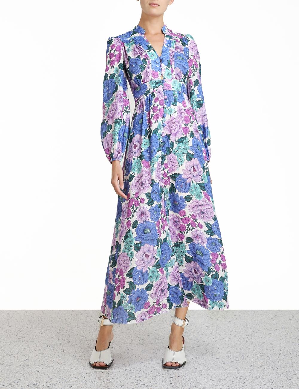 Poppy Plunge Midi Dress