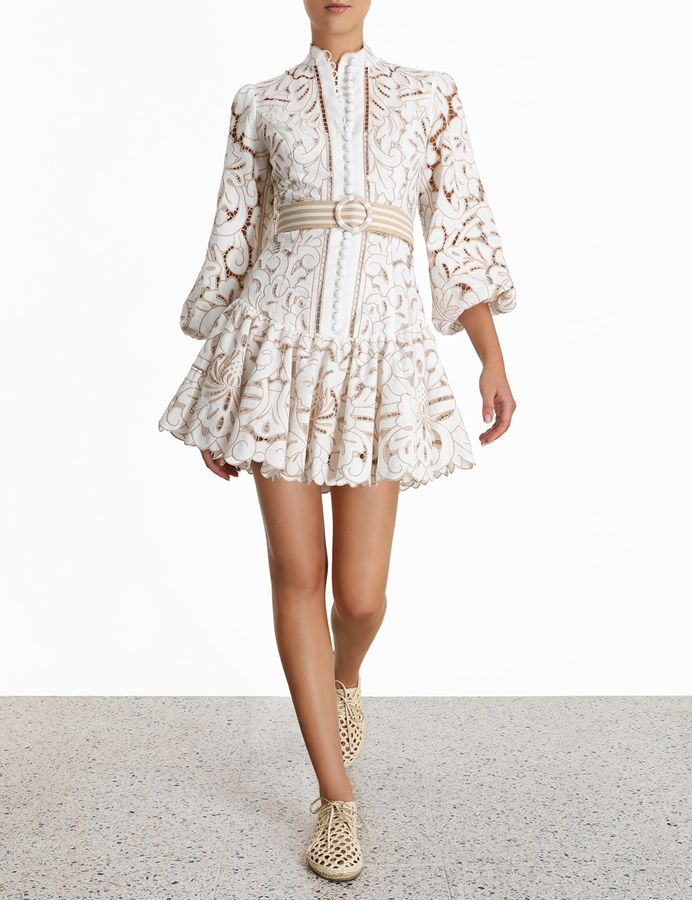 Edie Button Down Short Dress