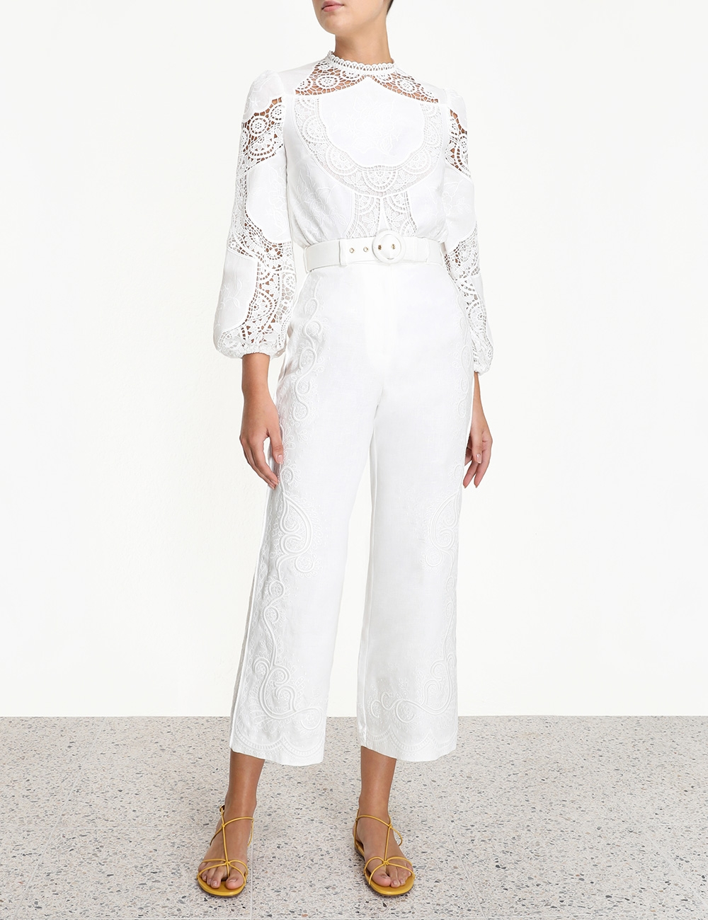 Bonita Corded Embroidery Pant