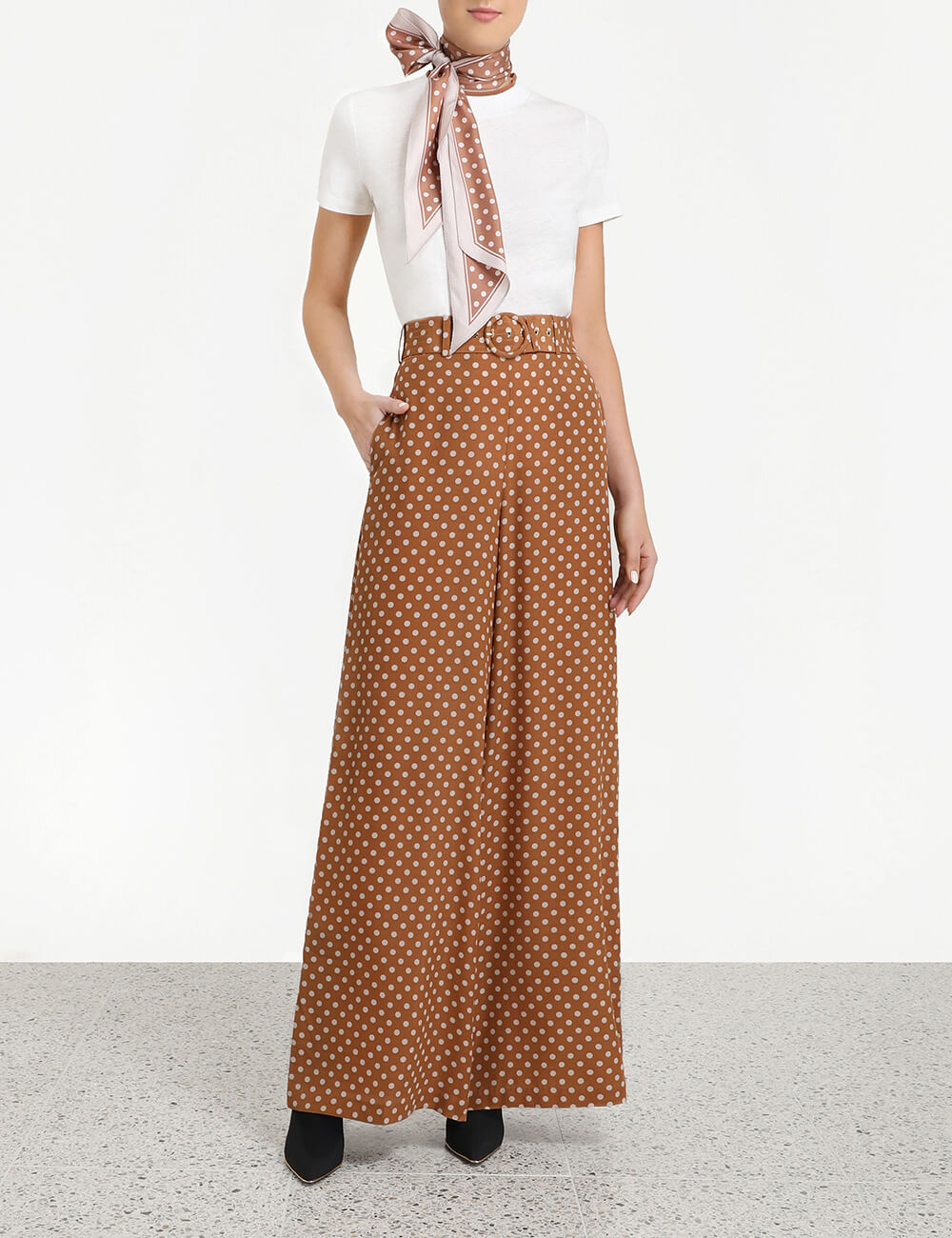 Espionage Silk Belted Pant