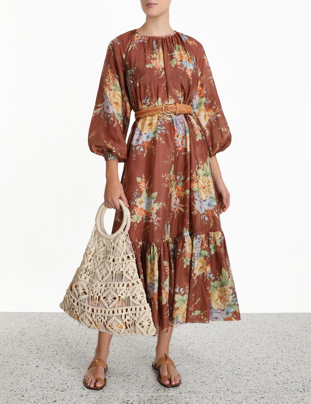 Zinnia Long Sleeve Maxi Dress