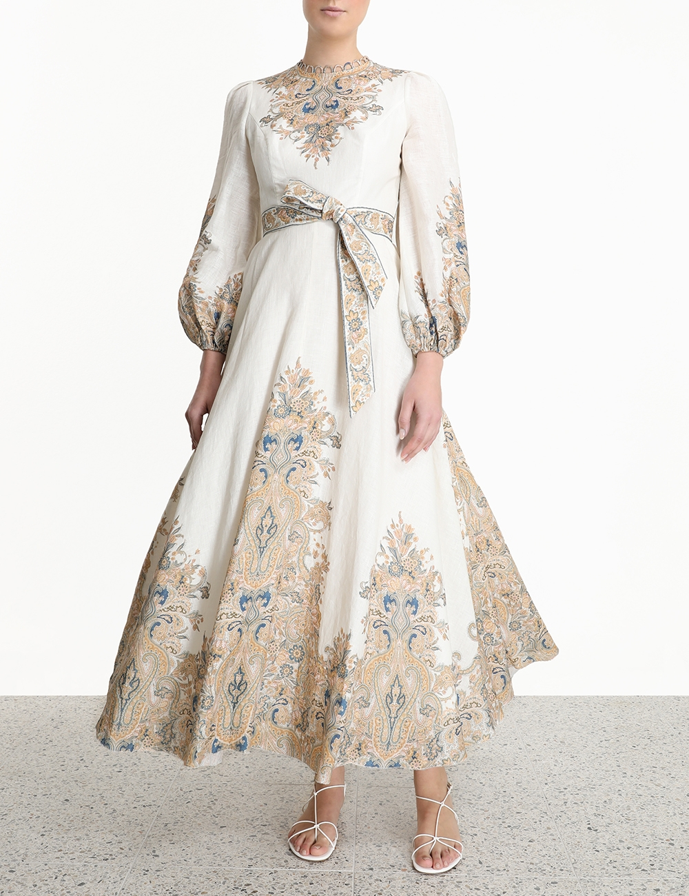 Freja Paisley Long Dress
