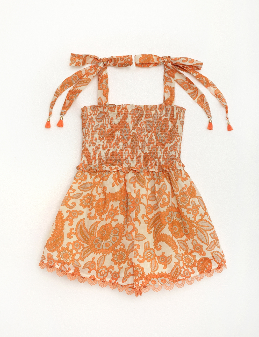 Peggy Shirred Playsuit