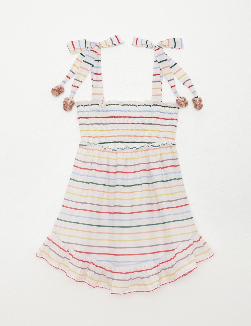 Zinnia Shirred Short Dress