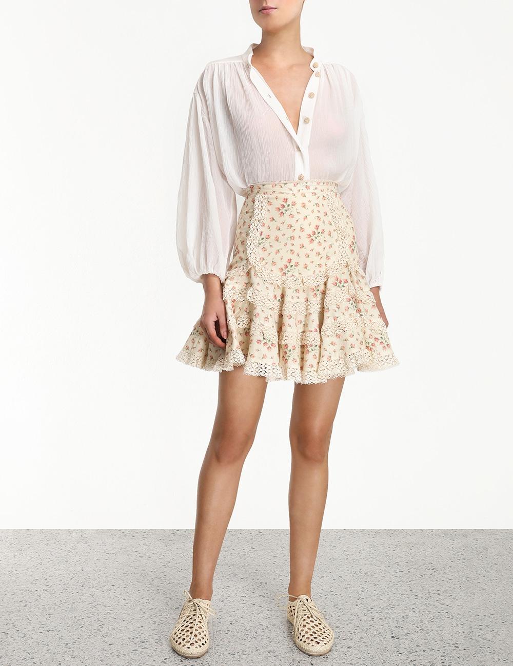 Freja Trim Flutter Skirt