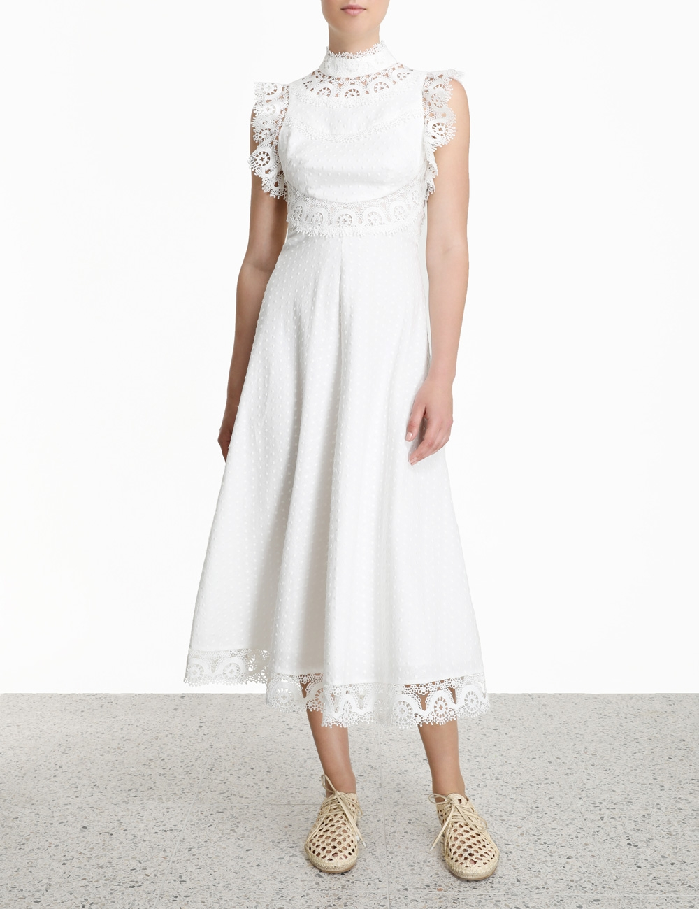 Peggy Embroidered Long Dress