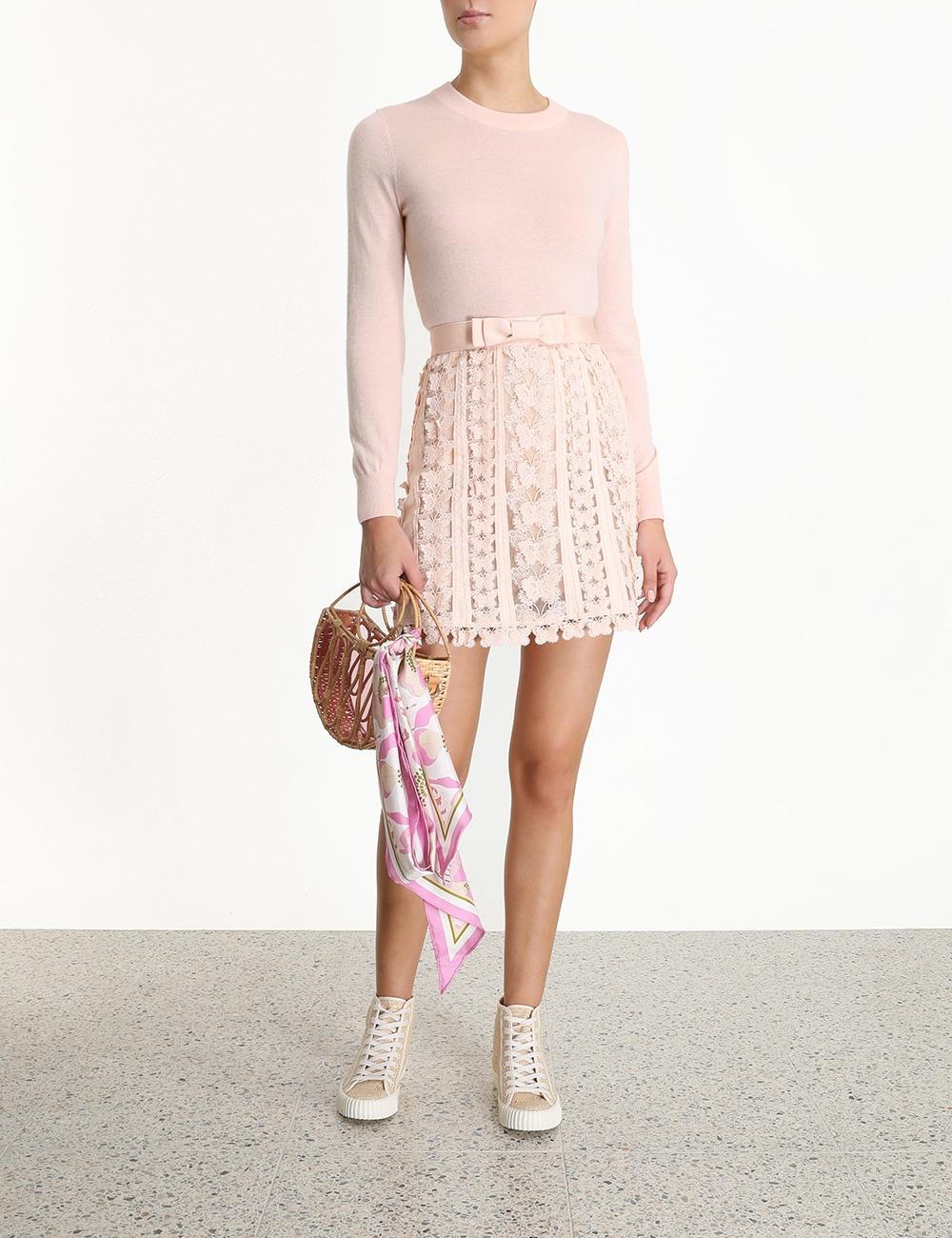 Super Eight Flutter Mini Skirt