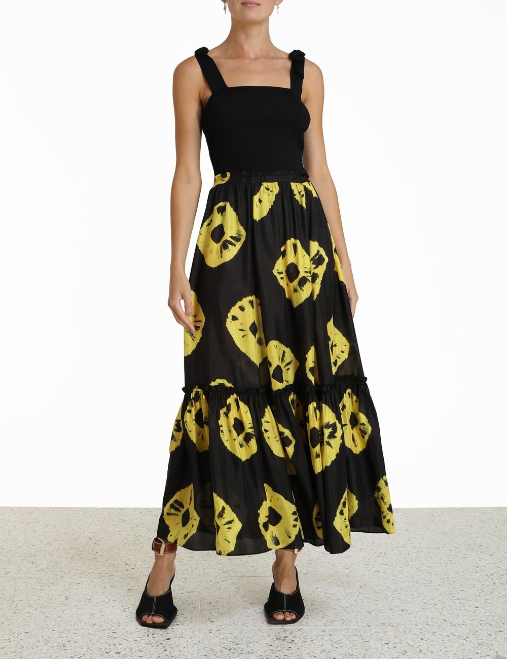Lulu Ruffle Hem Skirt