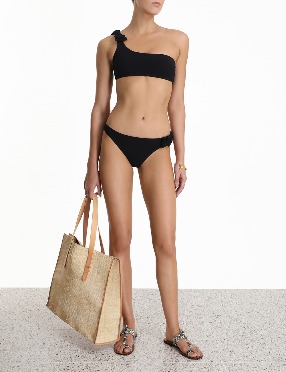 Zinnia Bow 1 Shoulder Bikini