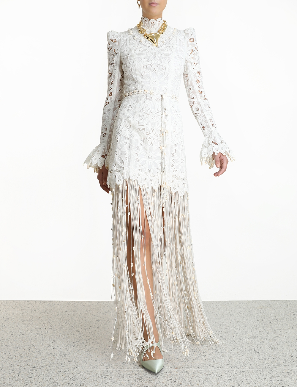 Wavelength Fringed Gown