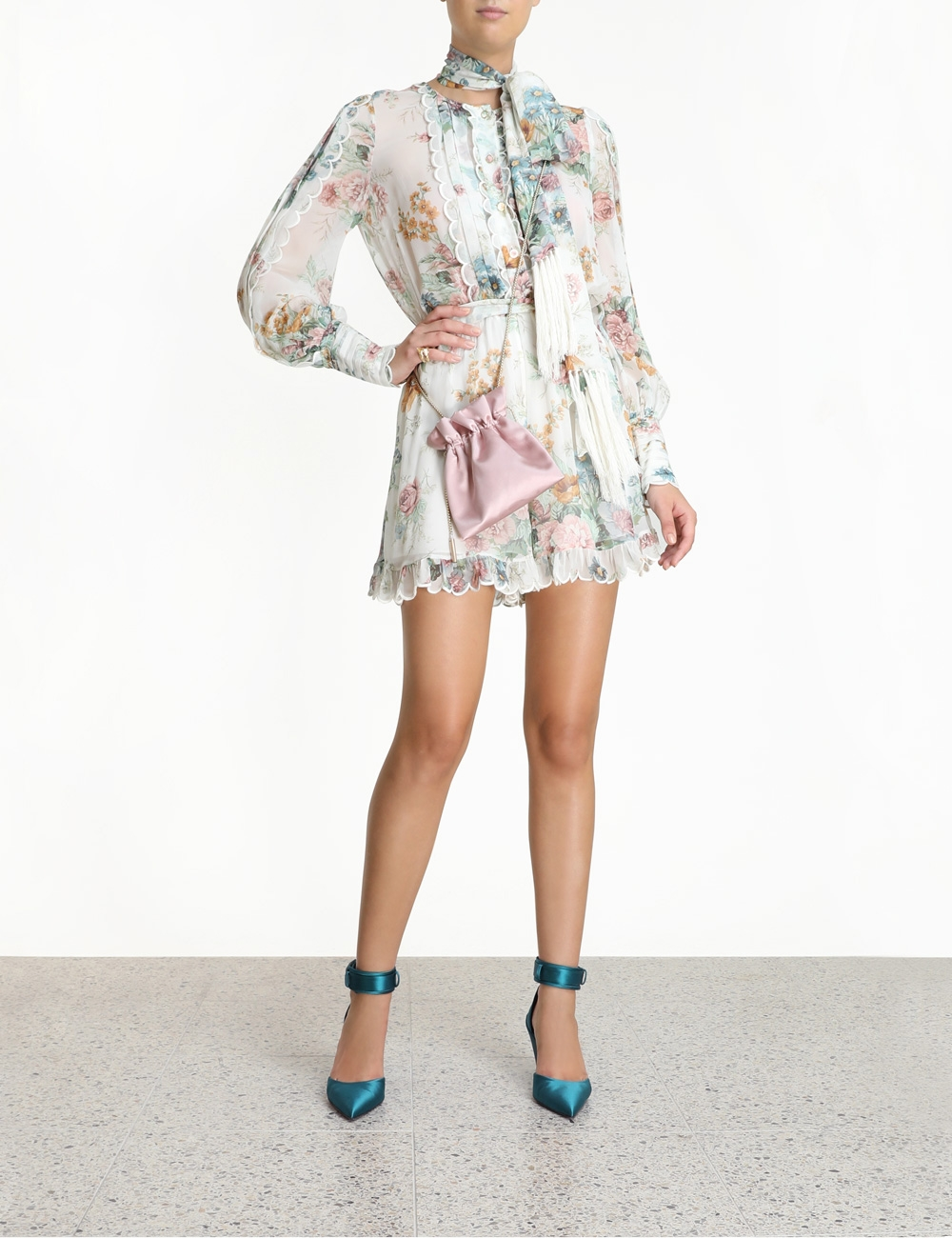 Wavelength Scallop Playsuit