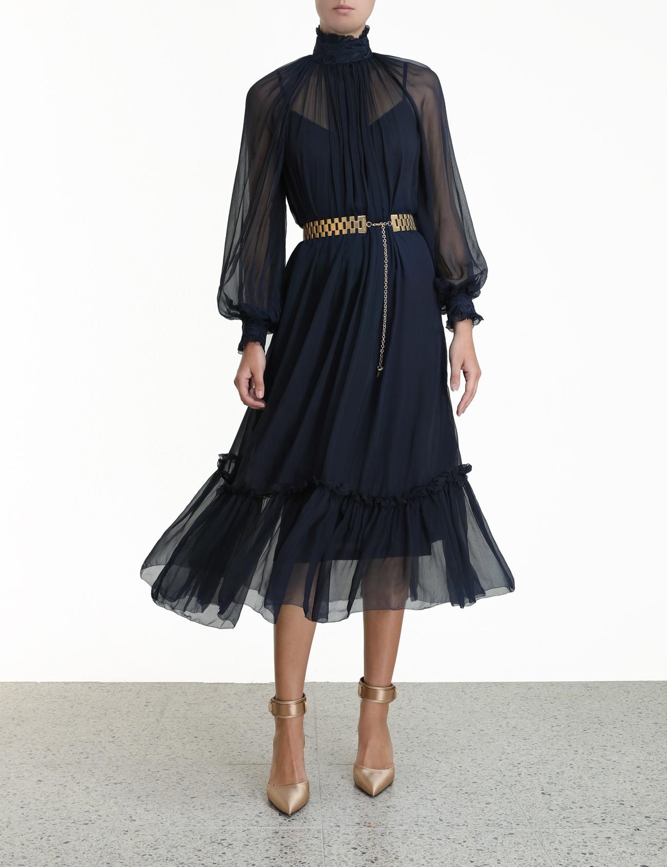 Glassy Rouleaux Swing Dress