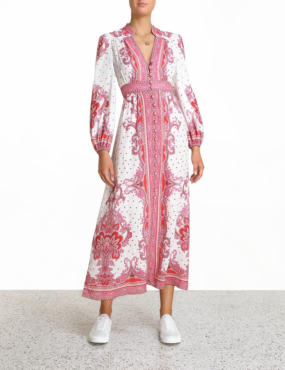 Bells Paisley Long Dress