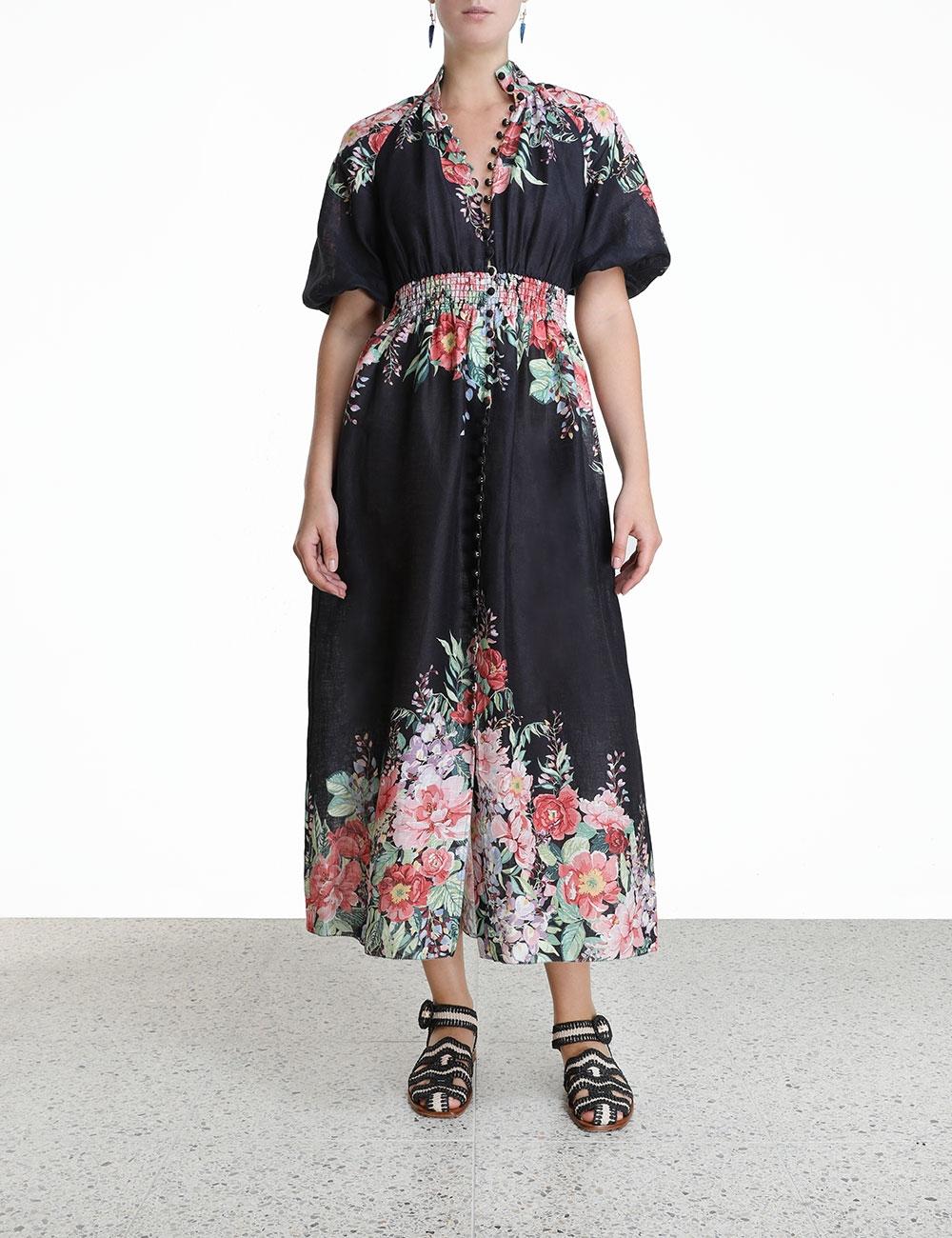 Bellitude Shirred Waist Dress