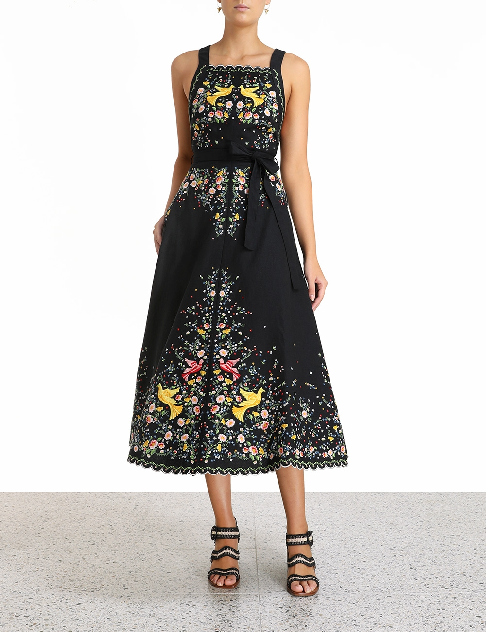 Carnaby Embroidered Bird Dress