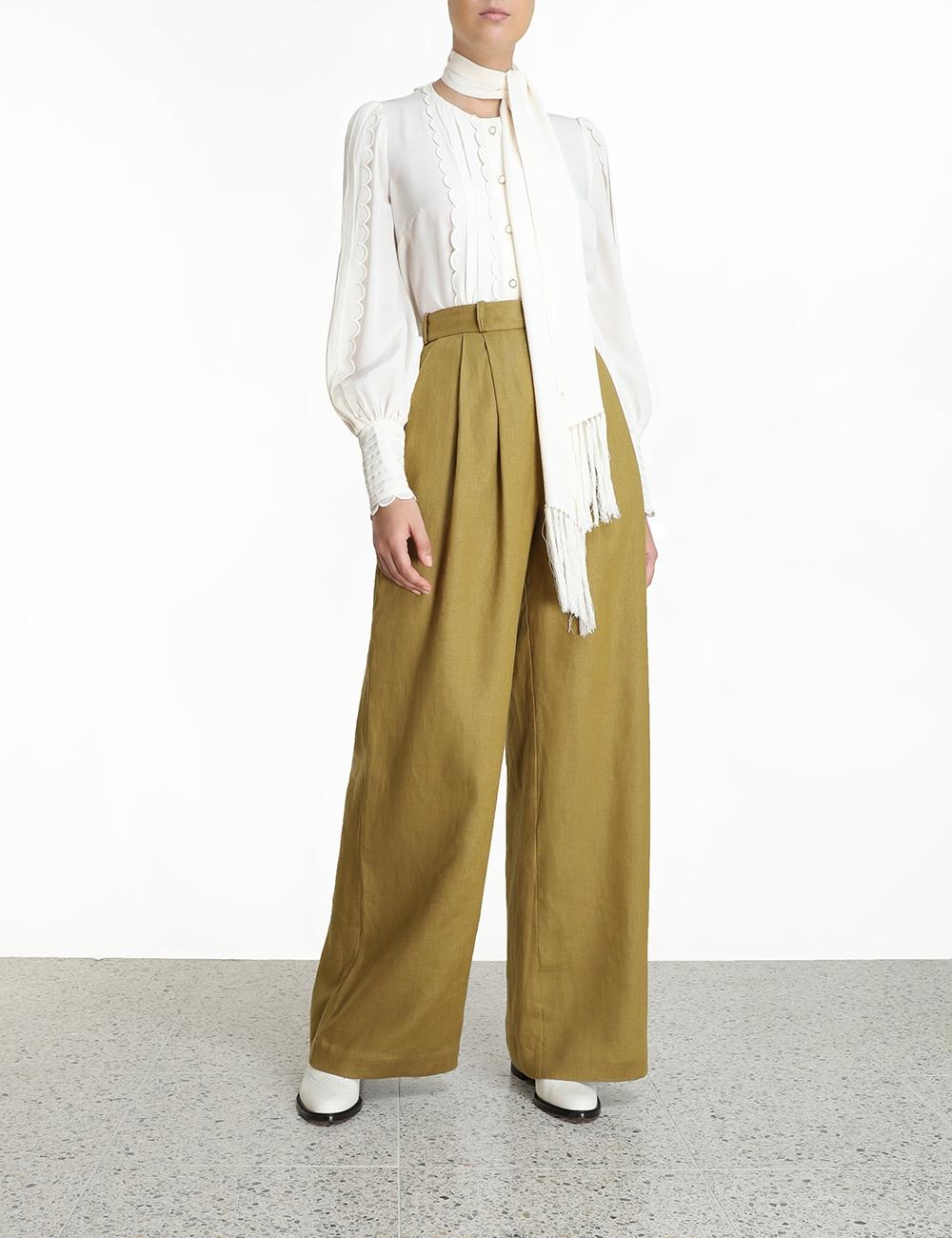 Wavelength Silk Scallop Shirt